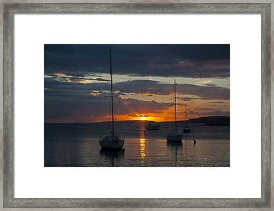 Perfect Ending In Puerto Rico Framed Print