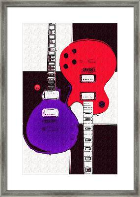 Perfect Fit -   Les Paul Framed Print by Bill Cannon