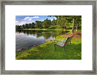 Perfect Spot To Rest Framed Print