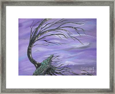 Perfect Storm Framed Print by Sesha Lee