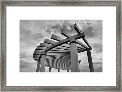 Framed Print featuring the photograph Pergola by Brian Hughes