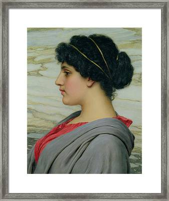 Perilla Framed Print by John William Godward
