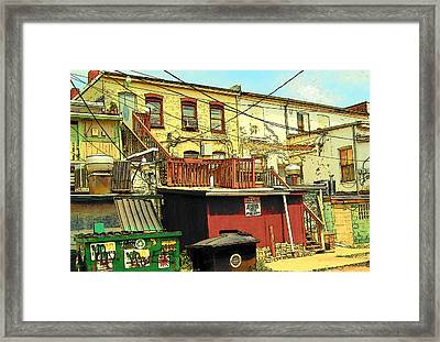 Framed Print featuring the photograph Permit Parking Only by MJ Olsen