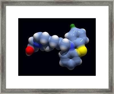 Perphenazine Antipsychotic Drug Framed Print by Dr Tim Evans