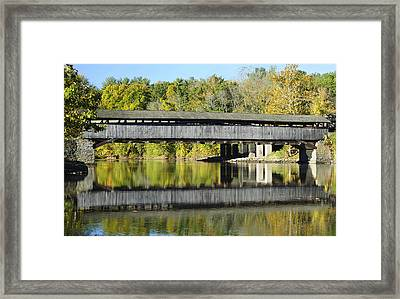 Perrine's Covered Bridge Framed Print by Luke Moore