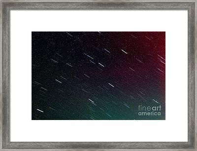 Perseid Meteor Shower Framed Print