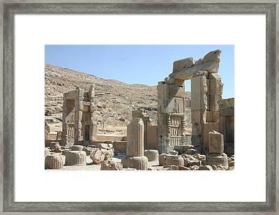 Persepolis Color Framed Print by Tia Anderson-Esguerra