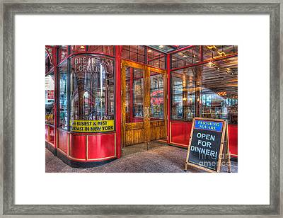 Pershing Square Central Cafe IIi Framed Print by Clarence Holmes