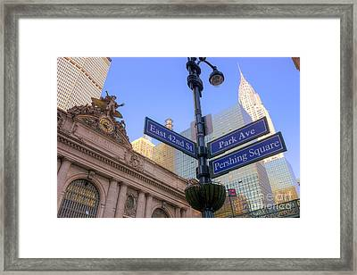 Pershing Square Skyline I Framed Print