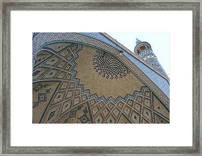 Persian Mosque Framed Print by Tia Anderson-Esguerra