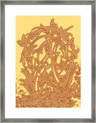 Persian Ornament Framed Print by Mohsen Mousavi