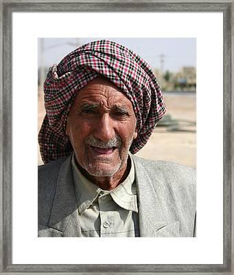 Persian Portrait Framed Print by Tia Anderson-Esguerra