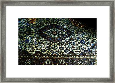 Persian Rug Framed Print by Unique Consignment