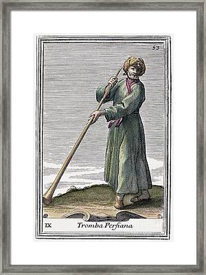Persian Trumpet, 1723 Framed Print by Granger