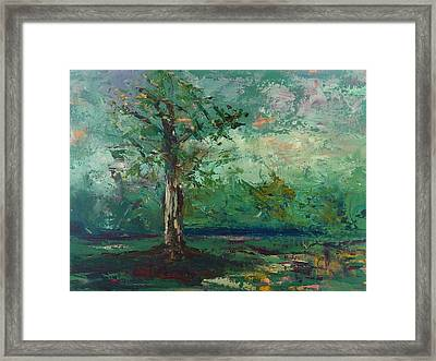Framed Print featuring the painting Persimmon In Plein Air by Carol Berning