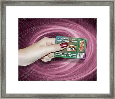 Personal Id Card Framed Print