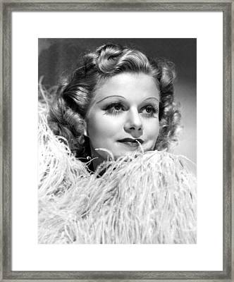Personal Property, Jean Harlow, 1937 Framed Print