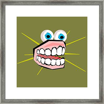Personality Teeth Framed Print by Jera Sky