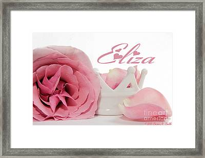Personalized Princess Petals Framed Print