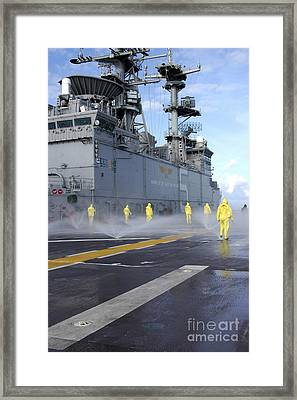 Personnel Conduct Aqueous Film Forming Framed Print by Stocktrek Images