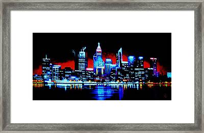Perth By Black Light   Sold Framed Print