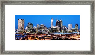 Perth City Night View From Kings Park Framed Print by Yew Kwang