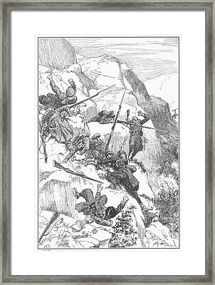 Peru: Battle Of Ayacucho Framed Print by Granger