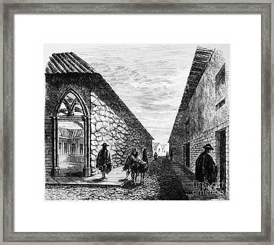 Peru: Street, 1869 Framed Print by Granger