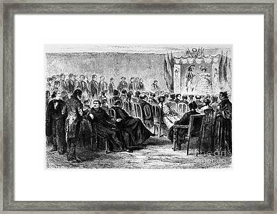Peru: Theater, 1869 Framed Print by Granger