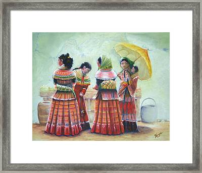 Peruvian Ladies Framed Print by Catherine Link