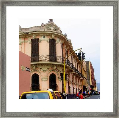 Peruvian Streets Framed Print by Karen Wiles