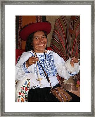 Peruvian Weaver Framed Print
