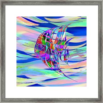 Pescado Aqui Framed Print by Wally Boggus