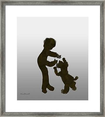 Framed Print featuring the digital art Pet Dog by Asok Mukhopadhyay