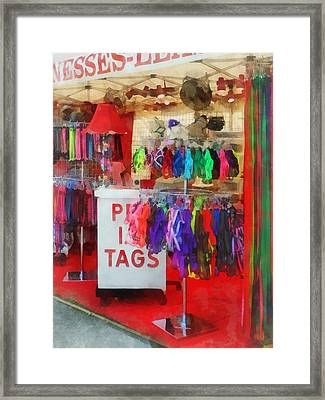 Pet Leashes And Harnesses For Sale Framed Print by Susan Savad