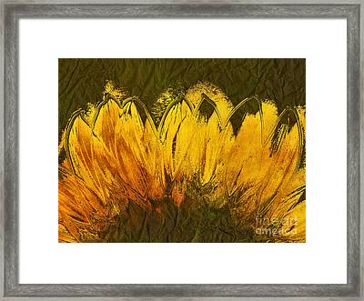 Petales De Soleil - A43t02b Framed Print by Variance Collections
