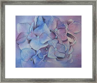 Framed Print featuring the painting Petals by Patsy Sharpe