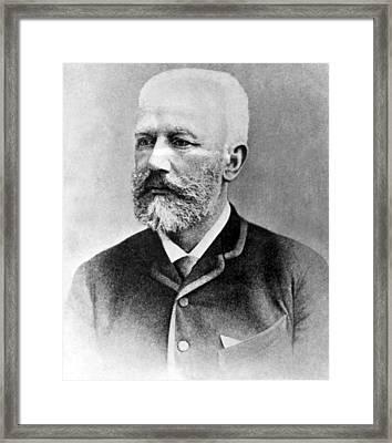 Peter Ilyitch Tchaikovsky, Russian Framed Print by Everett