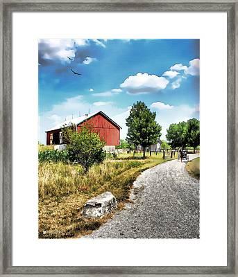 Peter Stuckey Farm Framed Print by Tom Schmidt