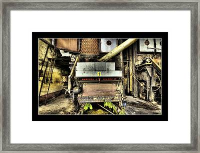 Framed Print featuring the digital art Peters Factory 02 by Kevin Chippindall