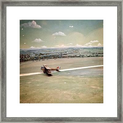 Petite Plane Framed Print