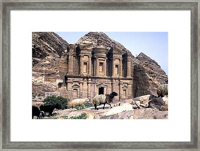 Petra Architecture Framed Print by John Miles
