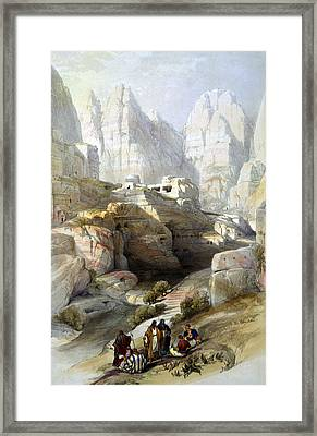 Petra March 10th 1839 Framed Print