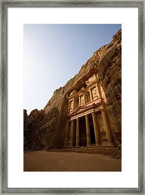 Petra Treasury At Morning Framed Print