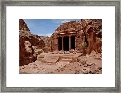 Petra's Garden Temple Framed Print by Dan Wiklund