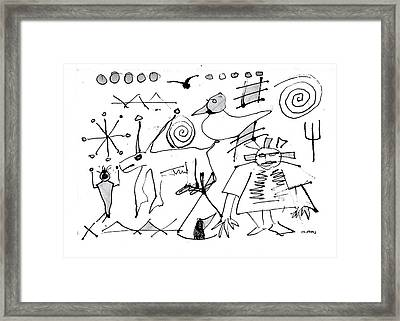 Petroglyph 1 Framed Print