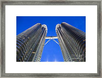 Petronas Tower Bridge Detail Framed Print by Gualtiero Boffi
