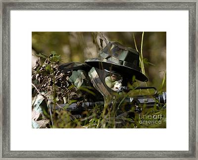 Petty Officer Provides Security Framed Print by Stocktrek Images