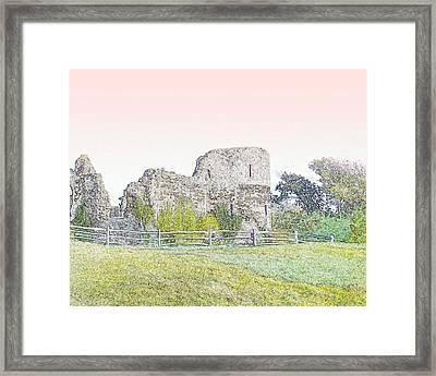 Pevensey's Roman Castle Framed Print