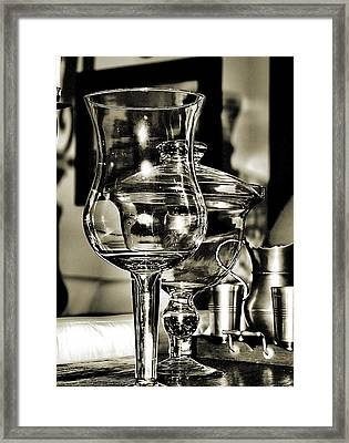 Pewter And Glass Framed Print by Bob Wall